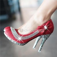 Pretty Shining Closed Toe Stiletto Heels Prom/Evening Shoes