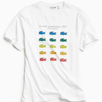 Lacoste Rainbow Croc Tee | Urban Outfitters