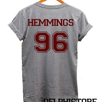 luke hemmings shirt 5 seconds of summer t-shirt sport grey printed unisex size (DL-66)