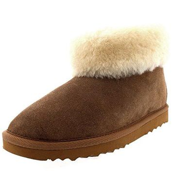 Polar Products Womens Rubber Sole Real Slippers Boots