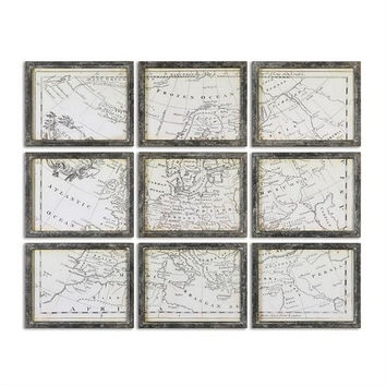 Uttermost Map of Europe Grid, Set/9 - Uttermost 56054