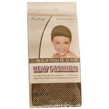 Free Shipping Hotsale 50 Pcs Blonde Color New Fishnet Wig Cap Stretchable Elastic Hair Net Snood Wig Cap/ Wig Cap Tools & Accessories Hair-net Hairnets