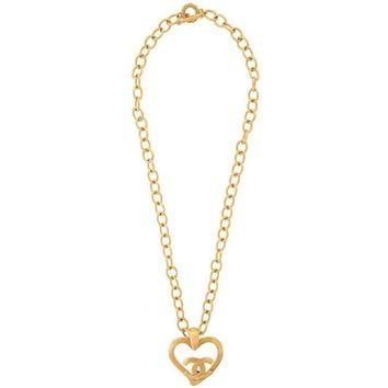 Chanel Vintage Gold Large Medallion Charm Evening Dangle Long Necklace II