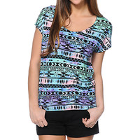 Empyre Hatfield Multicolor Tribal Print Dolman T-Shirt