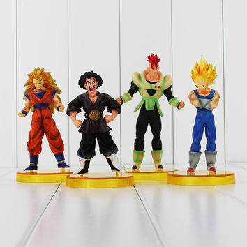 4Pcs. Dragon ball z figures 4th Goku Action Figures Chidren Toy Christmas Gift for Kids