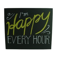 Simple by Design ''I'm Happy Every Hour'' Wooden Box Sign Art