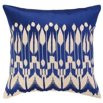 Lomita Ikat Indigo Pillow