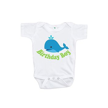 Custom Party Shop Baby Boy's Whale Birthday Boy Onepiece
