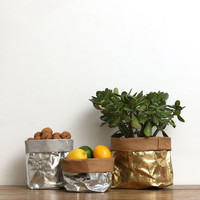 Uashmama Metallic Paper Bag Gold