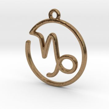 Capricorn Zodiac Pendant by Jilub on Shapeways