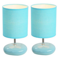 All the Rages Simple Designs Stonies Table Lamp (2 Pack) - Finish: Blue