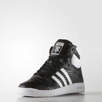 adidas Top Ten Hi Shoes - Black | adidas US