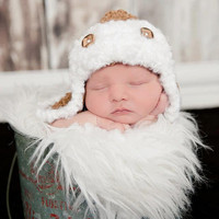 Crochet Pattern for Unisex Aviator Bomber Lumberjack Hat - 8 sizes, newborn to large adult - Welcome to sell finished items