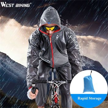 WEST BIKING Waterproof Cycling Jersey Raincoat Ropa Ciclismo Wind Rain Coat Windproof Bicycle Clothing MTB Bike Cycling Raincoat