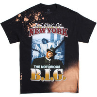 King Of New York T-Shirt Bleach Black