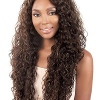 "26"" Long Curly Layered Synthetic Wigs for Women Brown"