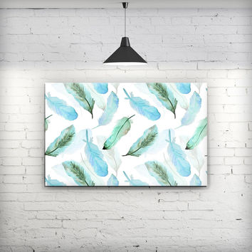 Feathery Watercolor - Fine-Art Wall Canvas Prints
