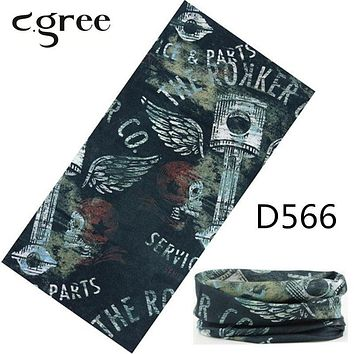 Top quality Tube Bandanas 100% Polyester Skull Mask Bandana Headbands Hijab Square Caps Face Mask Sport Scarves 25*48cm
