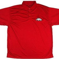 University of Arkansas Razorbacks Majestic Performance Polo Shirt Size 2XL