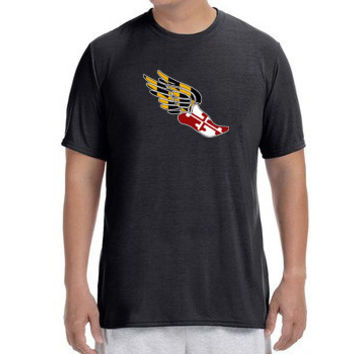 "Mens Short Sleeve Performance ""Maryland Pegasus"" Technical T-Shirt"
