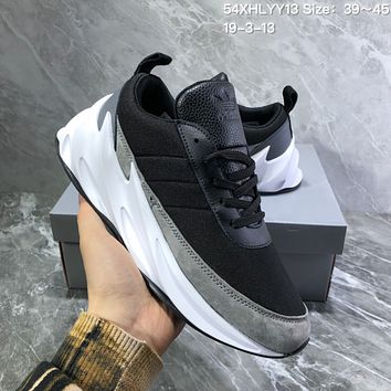 DCCK2 A1000 Adidas Sharks Concept Fashion Casual Running Shoes Black Gray