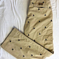 Very Rare - Rugby By Ralph Lauren - Khaki Embroidered Skull Khakis  32 X 32