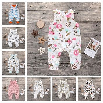 Newborn Cotton Summer Rompers