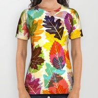 Autumn leaves All Over Print Shirt by Fimbis