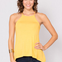 Youthful Spirit Halter Top in Yellow