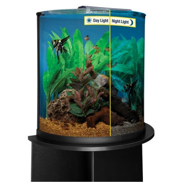 Half Moon Aquarium Kit With Led 20 Gallon