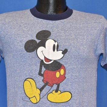 80s Mickey Mouse Ringer t-shirt Small