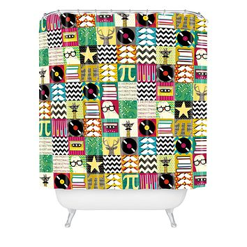 Sharon Turner Hip Hip Geek Shower Curtain