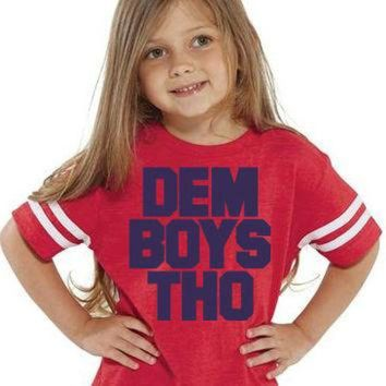 ONETOW DEM BOYS THO Kids Tee Football Jersey | Sizes 2T to 5/6T | Kids Cowboys Shirt | Dem Bo