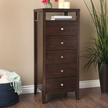 Aristo 5-drawer Lingerie Chest | Overstock.com Shopping - The Best Deals on Dressers