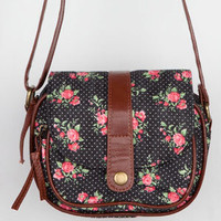 Floral Dot Crossbody Bag