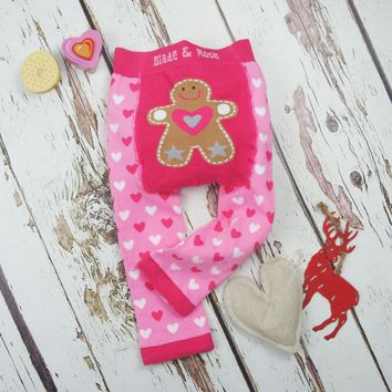 Pink Christmas Gingerbread Leggings
