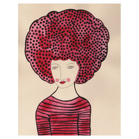 SHOCKING PINK AFRO - VALERIE GALLOWAY