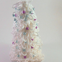 White Christmas Tree Holiday Decoration