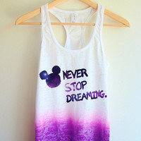 Galaxy Never Stop Dreaming Tie Dye Tank Top