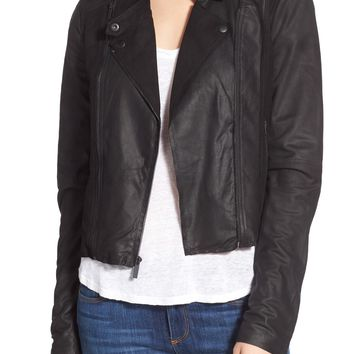 Paige Denim 'Silvie' Suede & Leather Moto Jacket | Nordstrom