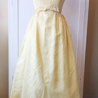 Vintage 1960s Maxi Dress / 60s Party Dress / Vintage Prom Dress / 1960s Bridesmaid