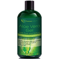 Premium Nature Aloe Vera Gel for Face Body & Hair, 12 oz