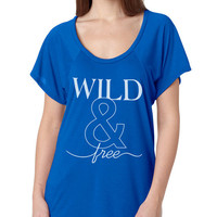 Wild and Free Flowy Raglan Viscose Tee