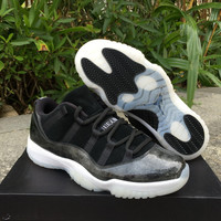 "Air Jordan 11 Low ""Barons"" AJ11 Sport Basketball Shoes"