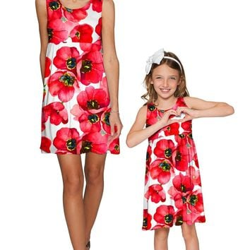 Tulip Salsa Sanibel Empire Waist Floral Mommy and Me Dresses