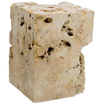 Johannes Cheese Stone Side Table/Stool