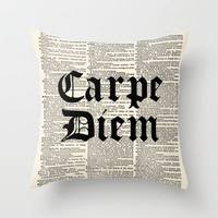 Carpe Diem by Adidit Throw Pillow by Adidit | Society6