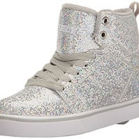 Heelys Kids' Uptown Sneaker flats shoe silver for girls