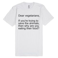 Vegetarians-Unisex White T-Shirt