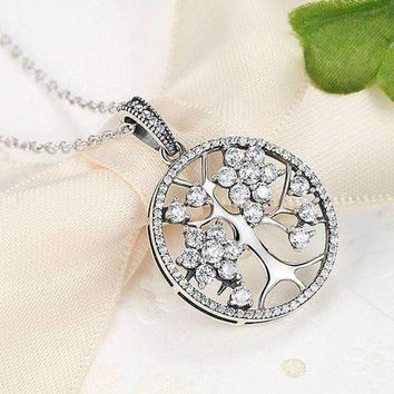 Classic Sterling Silver Tree of Life Pendant Necklace